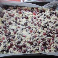 Piškotová buchta s ovocem recept