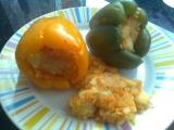 Zdravě plněné papriky recept