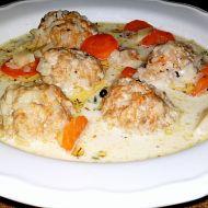 Čorba  smetanová zeleninová polévka s masovými knedlíčky recept ...