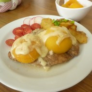 Kuřecí prsa zapečená s broskví a sýrem recept