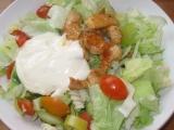 Těstovinový salát s kuř. masem a jednoduchým česnekovým ...
