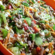 Zeleninový salát se sójou a sýrem recept