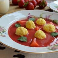 Tvarohové knedlíčky s jahodovou omáčkou recept