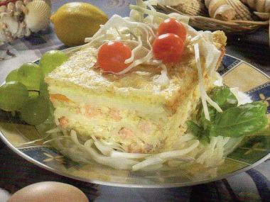 Lososovo-krevetové lasagne