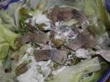 Řeřichový salát s lososem recept