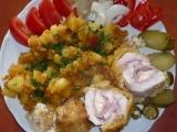Kuřecí kapsa s oprančenými bramborami recept