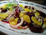 Salát z fenyklu, červené řepy a pomeranče recept