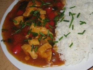 Kuřecí směs s rýží basmati