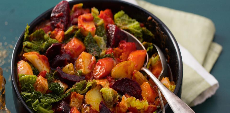 Pečená zelenina s kapustou