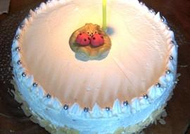 Dortík k 1. výročí  nepečený jablečný dort recept