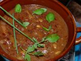 Pomalená kližka s červenou rýží recept