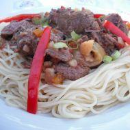 Dušené hovězí maso v zelenině recept