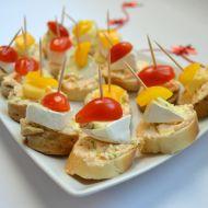 Silvestrovské jednohubky se sýrovou pomazánkou recept