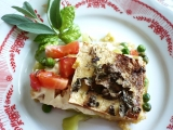 Polenta se zeleninou a tofu (zapečená) recept