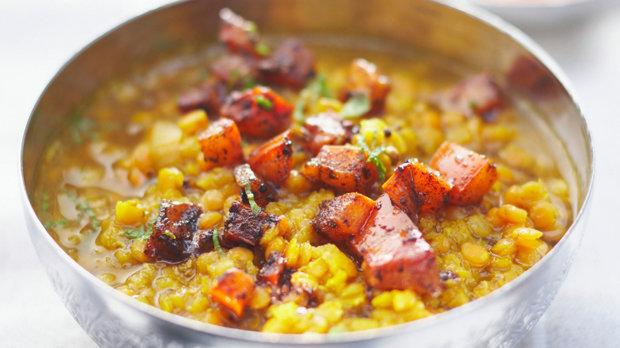 Indická žlutá čočka s mrkví