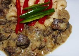 Krůtí srdíčka na smetanovém halali v PH recept