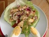 Tuňákový salát s jablkem. recept