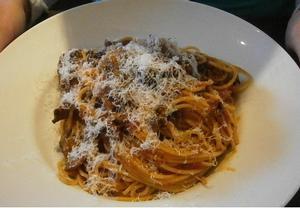 Spaghetti con polpettini
