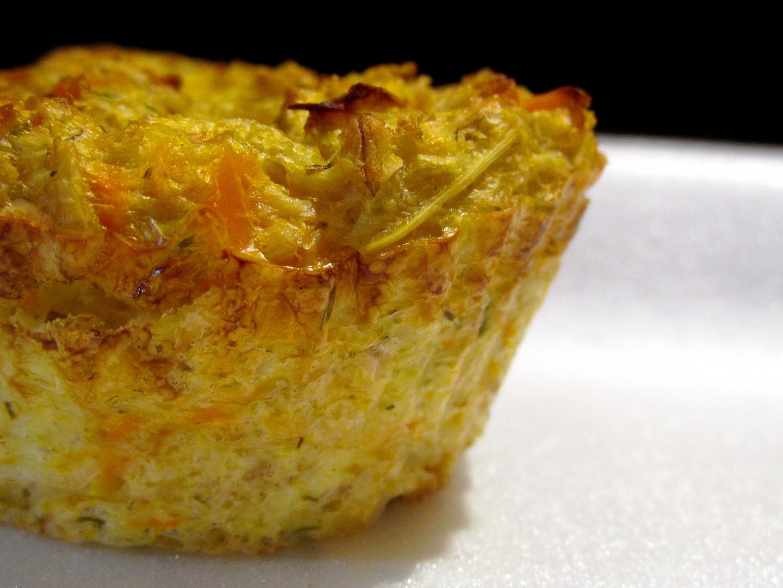 Zeleninové muffiny s ovesnými vločkami recept