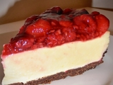 Malinový cheesecake s bílou čokoládou recept