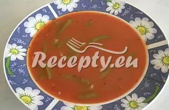 Rajská polévka s fazolovými lusky recept  polévky