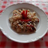 Houbové rizoto s paprikou recept