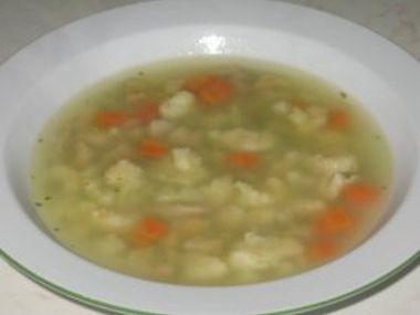 Noky do polévky z dětské krupičky