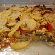 Zapečené brambory se zeleninou a mozzarellou recept