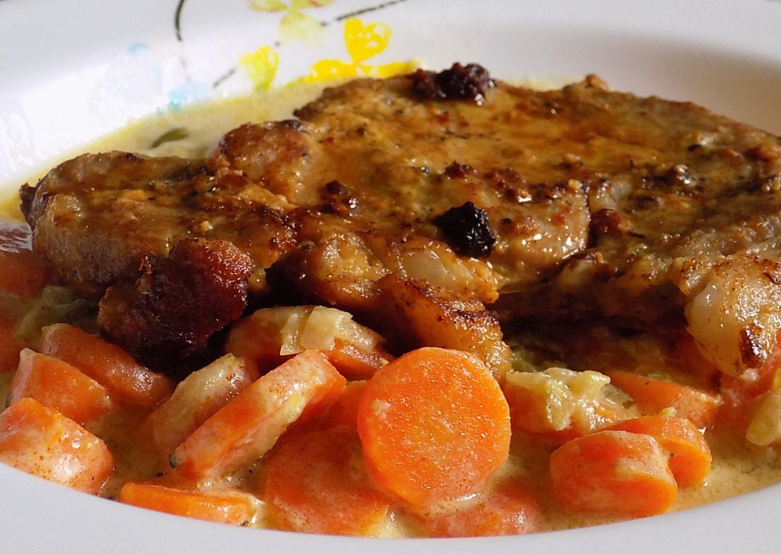 Fofr krkovice se smetanovou mrkví recept