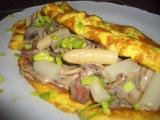 Chřestová omeleta se žampiony recept
