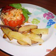 Italská rajčata plněná rýží recept