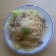 Těstoviny s česnekovou omáčkou recept