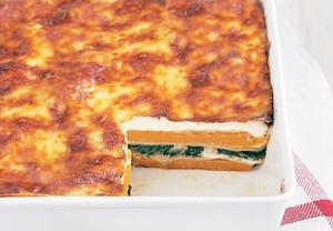 Dýňovo-špenátové lasagne