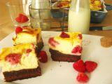 Brownies kombinovaný s malinovo-syrovym koláčom recept ...