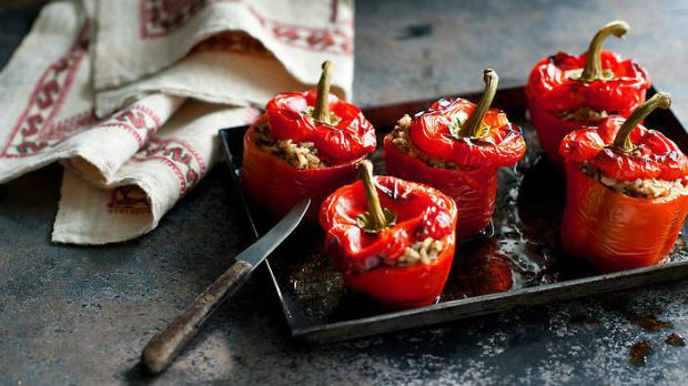 Plněné papriky s baharatem