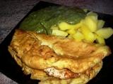 Kuřecí maso v omeletě se špenátem recept