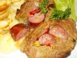 Plněná barevná roláda z mletého masa recept