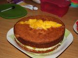 Krémový dort s ovocem recept