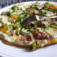 Vaječná omeleta s tuňákem recept