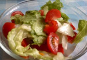 Ledový salát s rajčaty