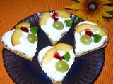 Pomerančové vafle se zakysanou smetanou recept