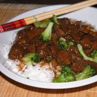 Hovězí maso s brokolicí recept