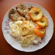 Vepřová panenka s jablky recept