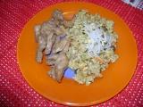 Prsíčka s pikantní šťavnatou rýží recept