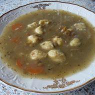 Čočková polévka s masovými knedlíčky recept