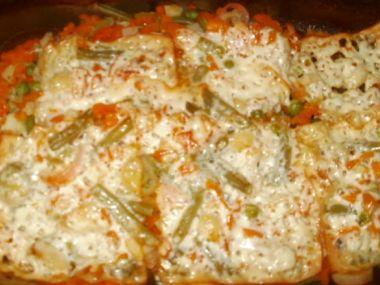 Rybí filety dušené na zelenině