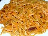 Ostré plody moře se špagetami tří barev recept