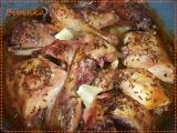 Pomalejší výtečná pečeně kachny a kuřete na zázvoru a citronu ...