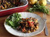 Tofu s rajčaty, bramborami a oregánem recept