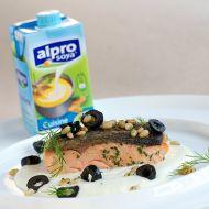 Steak z lososa s celerovým krémem recept